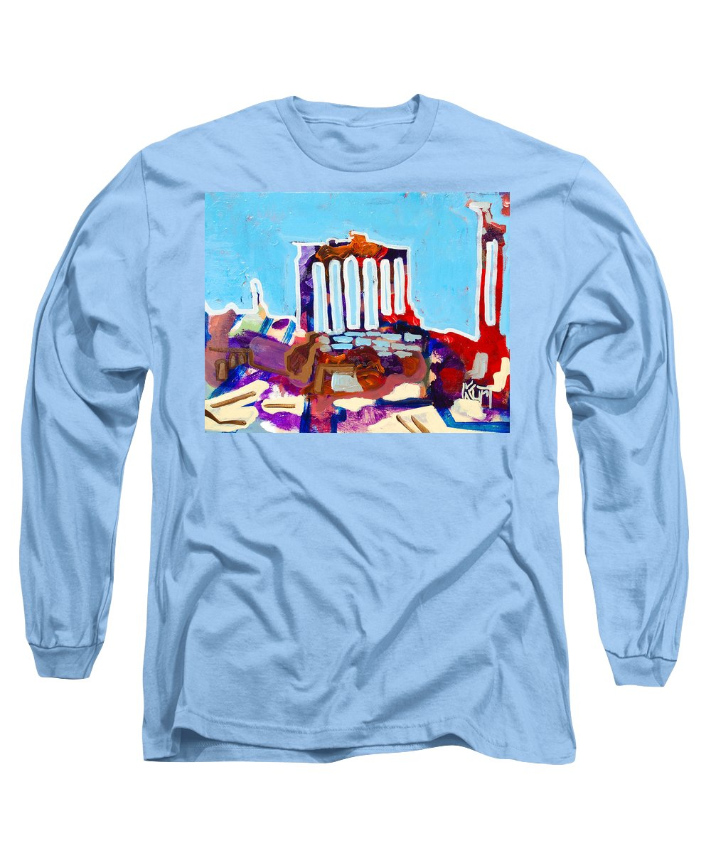 Rome Long Sleeve T-Shirt featuring the painting Rome by Kurt Hausmann