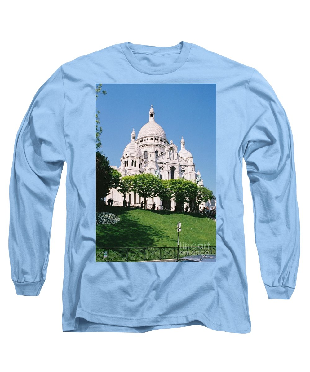 Church Long Sleeve T-Shirt featuring the photograph Sacre Coeur by Nadine Rippelmeyer