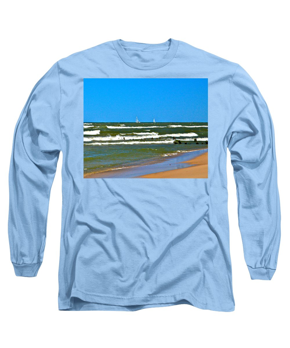 Water Long Sleeve T-Shirt featuring the photograph Sailing Away by Robert Pearson