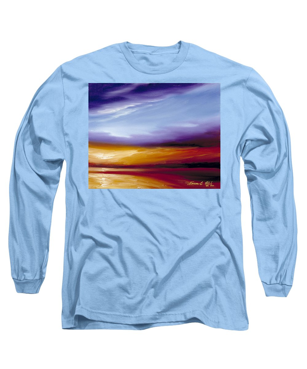 Skyscape Long Sleeve T-Shirt featuring the painting Sarasota Bay II by James Christopher Hill