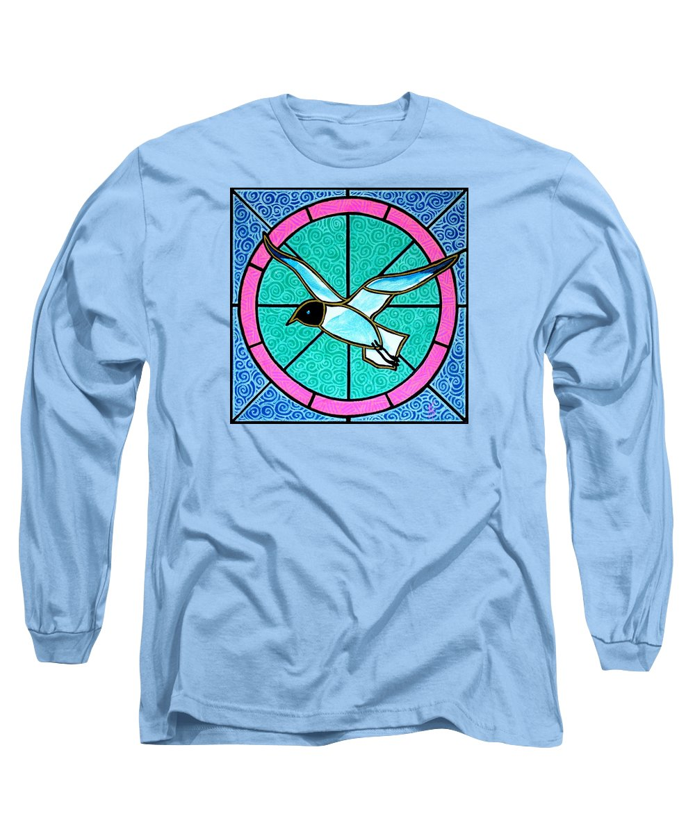 Seagull Long Sleeve T-Shirt featuring the painting Seagull 4 by Jim Harris