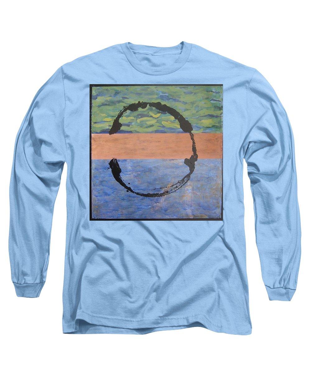 Serenity Long Sleeve T-Shirt featuring the painting Serenity by Ellen Beauregard