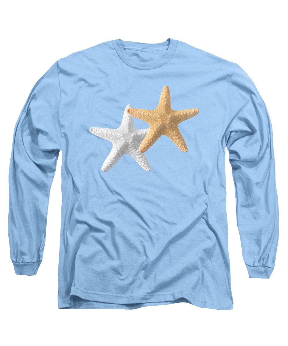 Starfish Long Sleeve T-Shirt featuring the photograph Starfish On Turquoise by Gill Billington