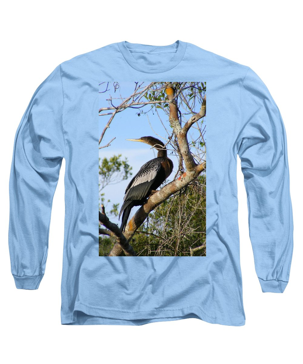Bird Long Sleeve T-Shirt featuring the photograph Strike A Pose by Ed Smith