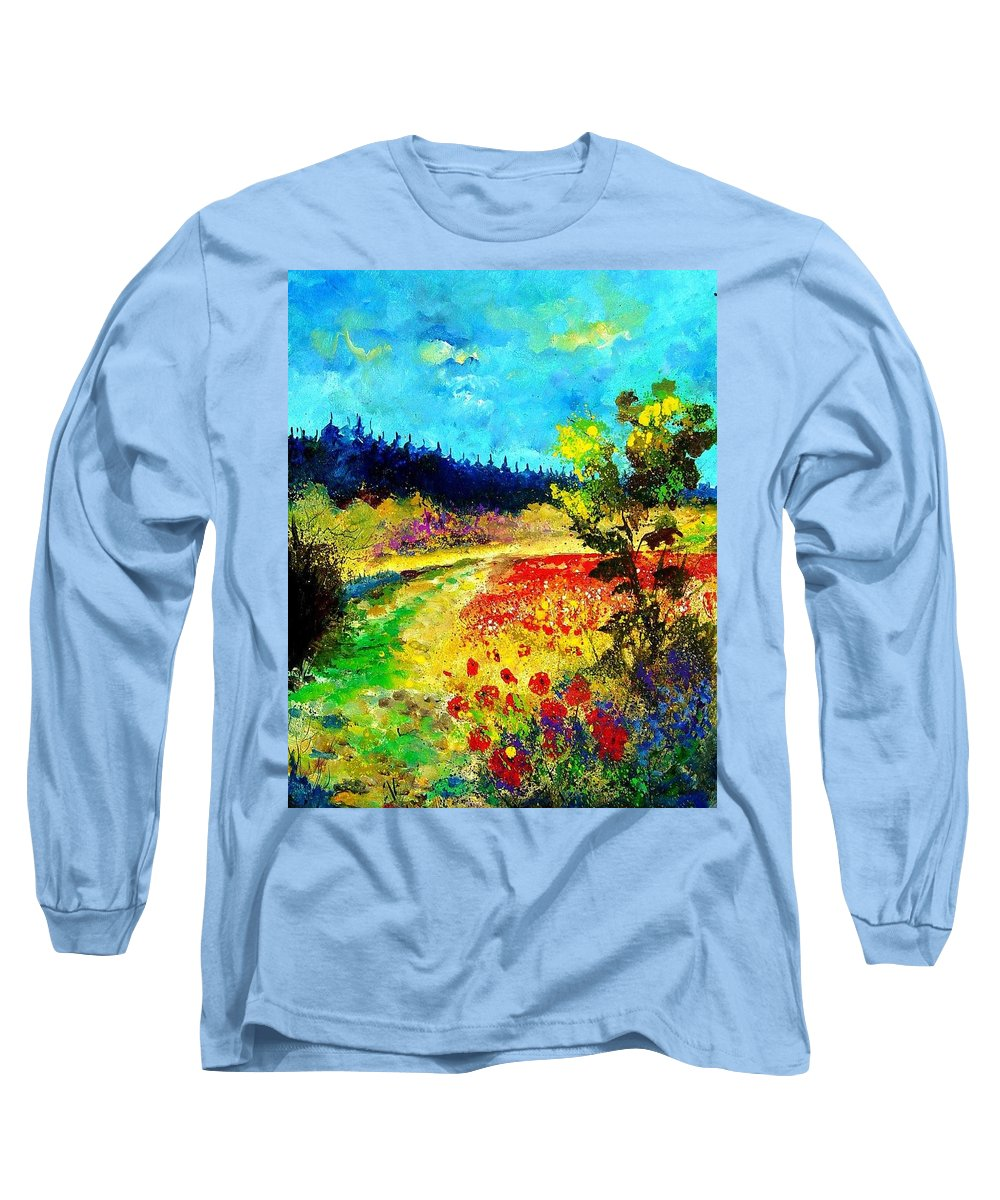 Flowers Long Sleeve T-Shirt featuring the painting Summer by Pol Ledent
