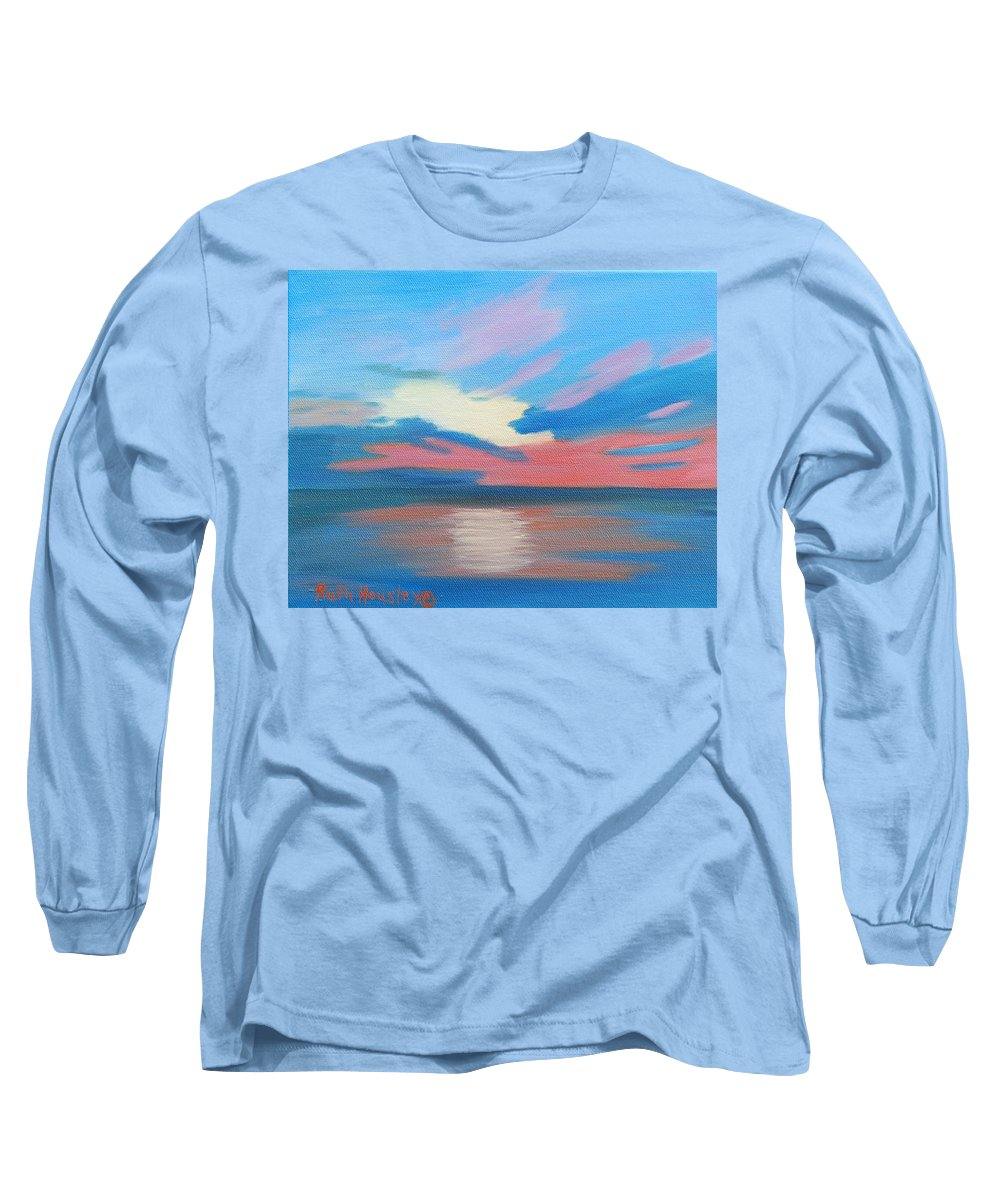 Fine Art Long Sleeve T-Shirt featuring the painting Sunrise Over Ocean City Maryland by Ruth Housley