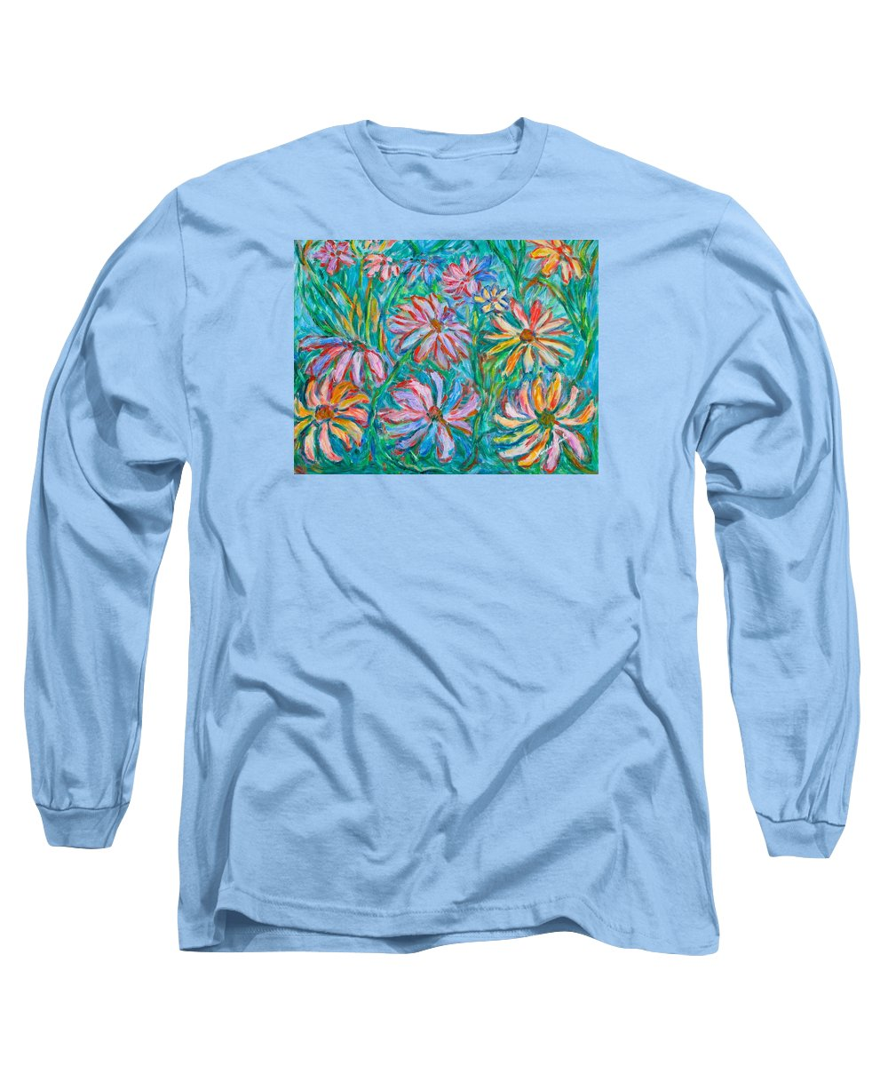 Impressionist Long Sleeve T-Shirt featuring the painting Swirling Color by Kendall Kessler