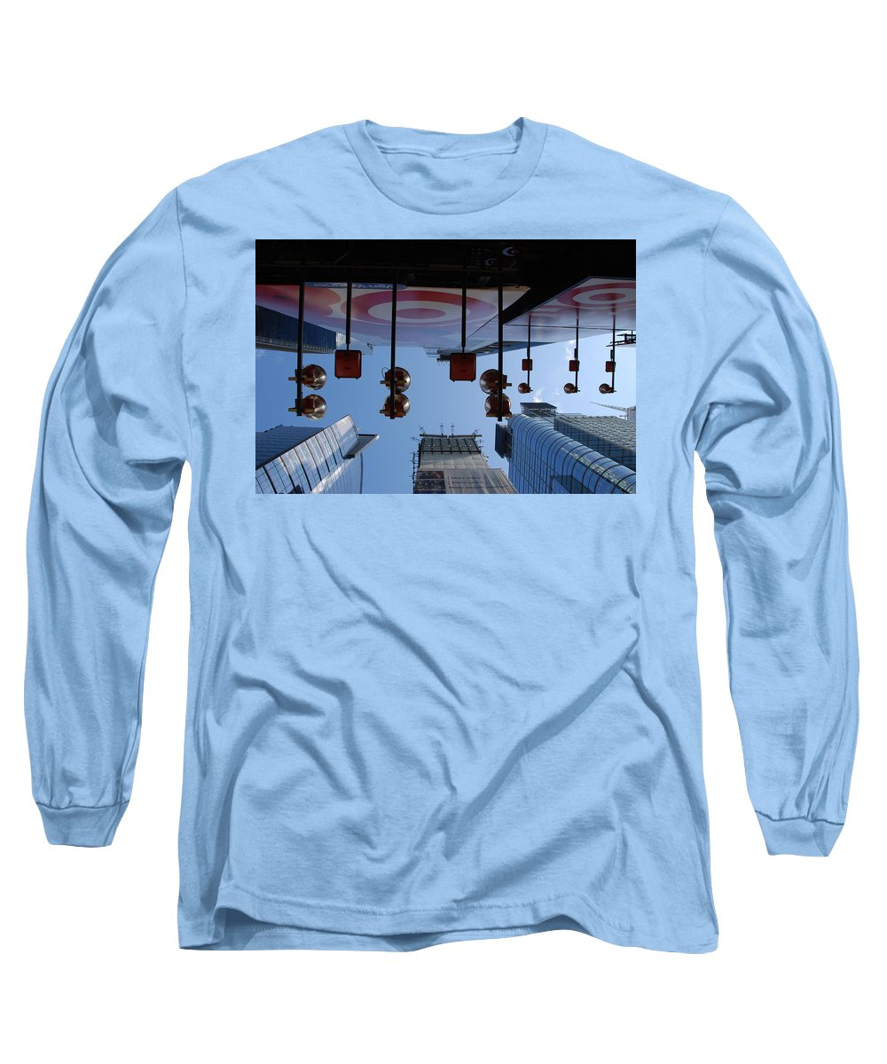 Architecture Long Sleeve T-Shirt featuring the photograph Target Lights by Rob Hans