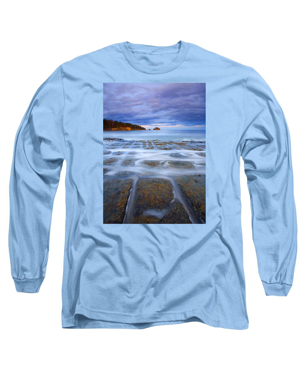 Sunset Long Sleeve T-Shirt featuring the photograph Tesselated Sunset by Mike Dawson