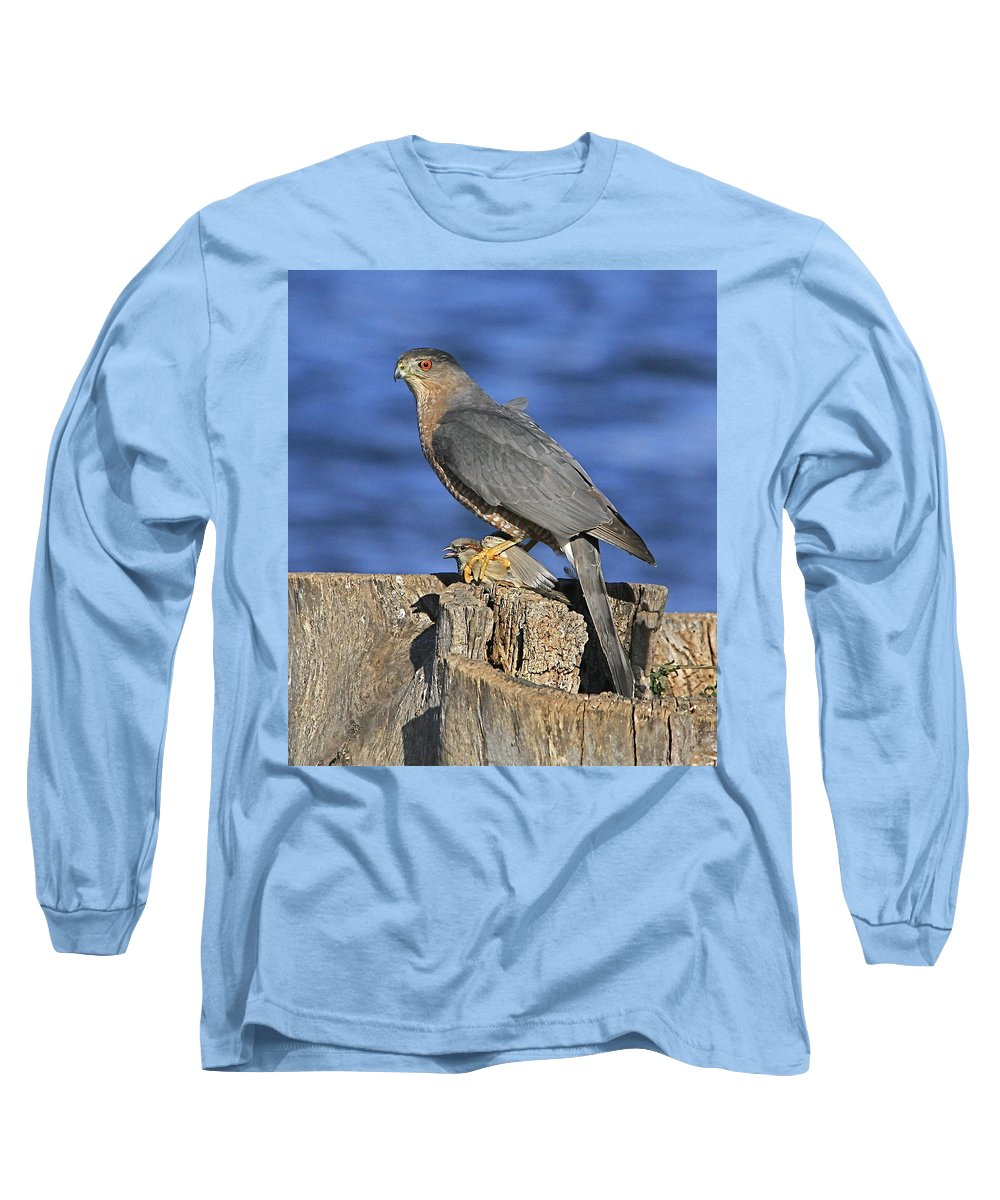 Cooper Long Sleeve T-Shirt featuring the photograph The Catch by Robert Pearson
