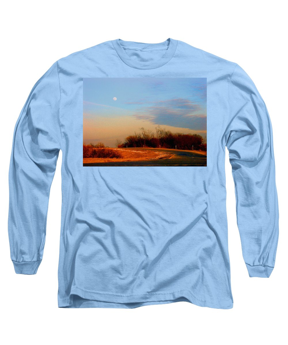 Landscape Long Sleeve T-Shirt featuring the photograph The On Ramp by Steve Karol