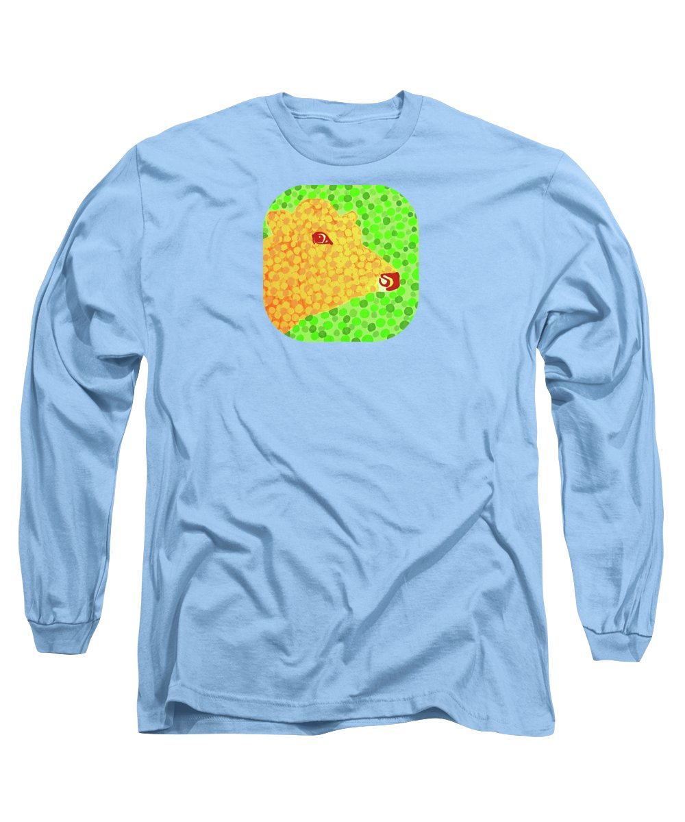 Animals Long Sleeve T-Shirt featuring the painting The Orange Cow by Alan Hogan