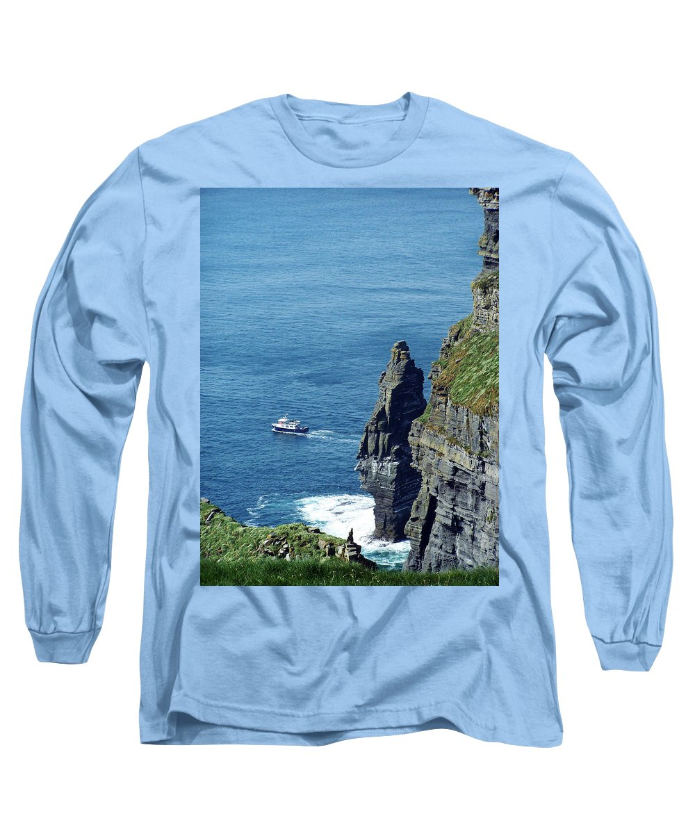 Irish Long Sleeve T-Shirt featuring the photograph The Stack And The Jack B Cliffs Of Moher Ireland by Teresa Mucha