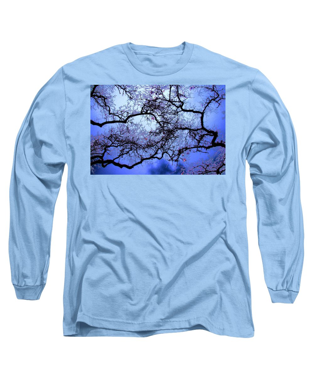 Scenic Long Sleeve T-Shirt featuring the photograph Tree Fantasy In Blue by Lee Santa