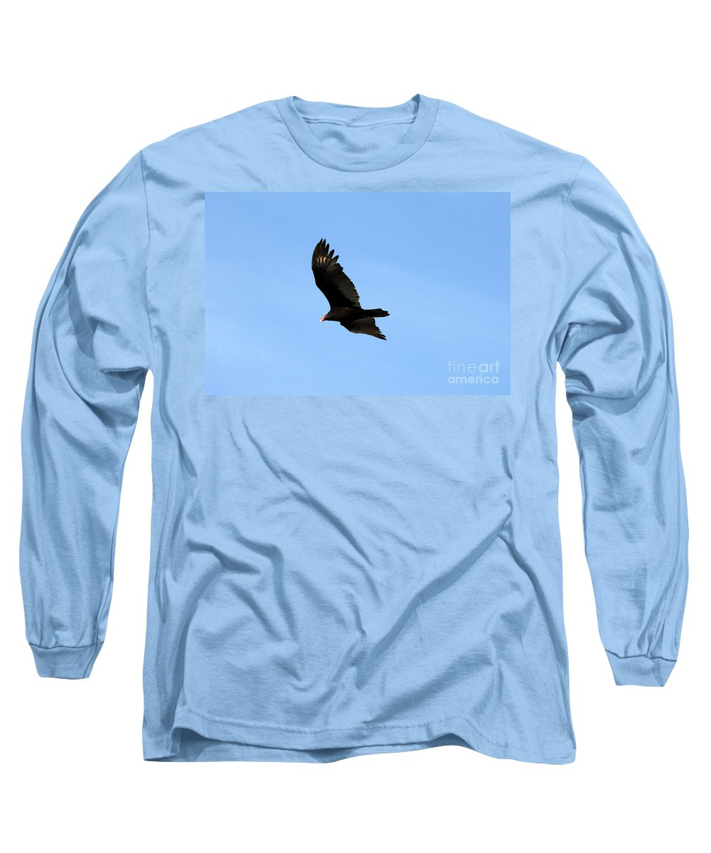 Turkey Vulture Long Sleeve T-Shirt featuring the photograph Turkey Vulture by David Lee Thompson