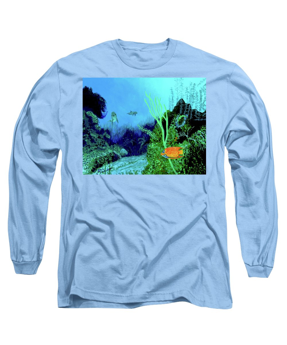 Wildlife Long Sleeve T-Shirt featuring the painting Underwater by Stan Hamilton