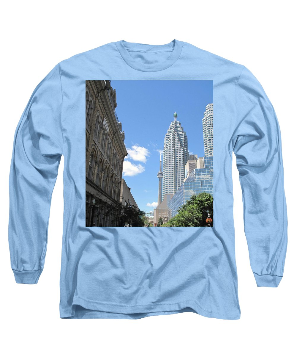 Front Street Long Sleeve T-Shirt featuring the photograph Urban Canyon by Ian MacDonald