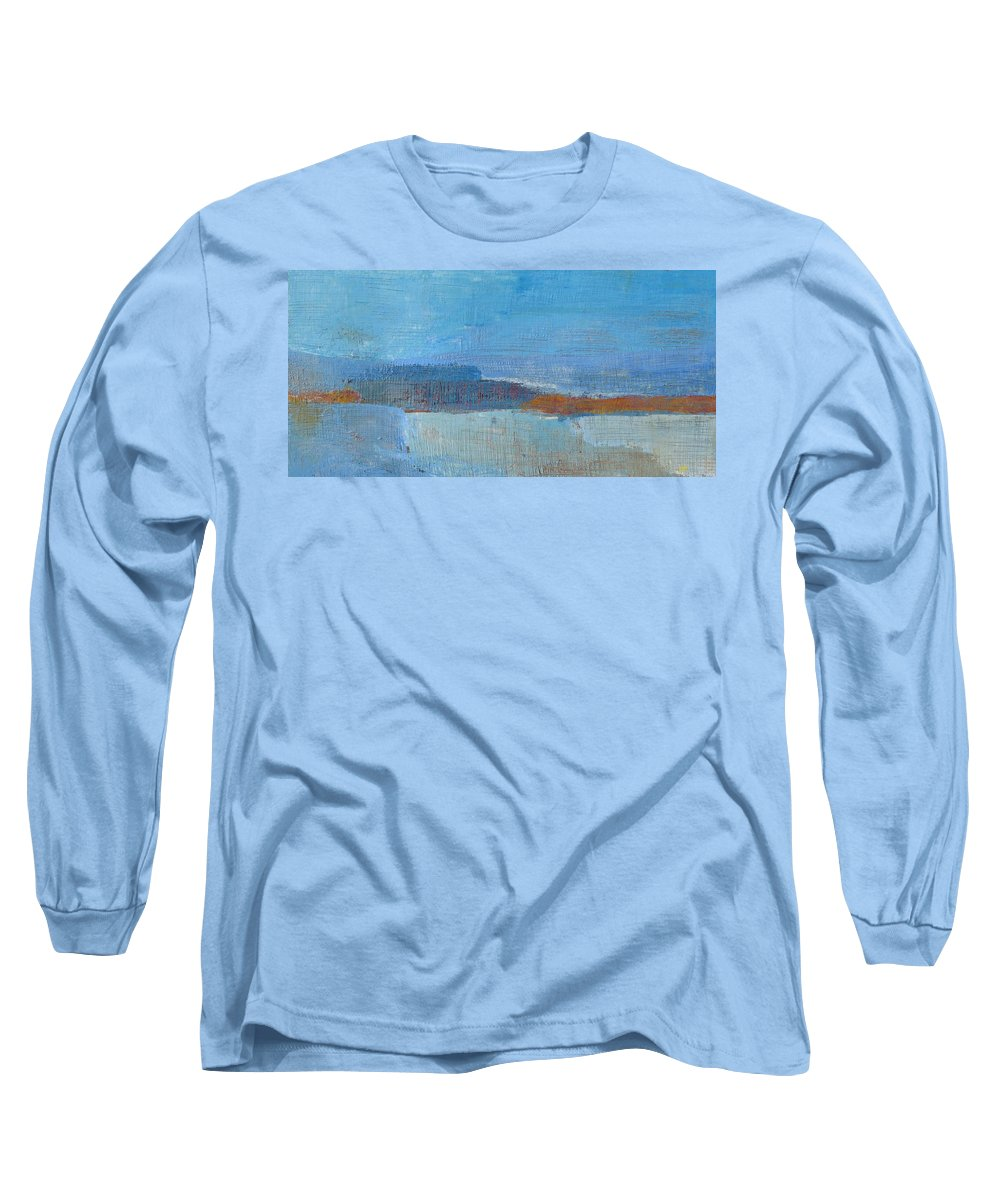 Abstract Long Sleeve T-Shirt featuring the painting Vision by Habib Ayat