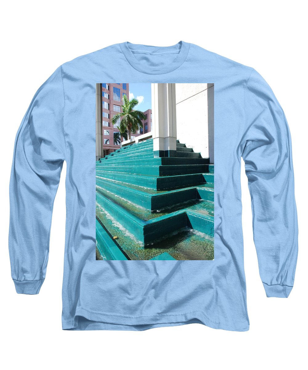 Architecture Long Sleeve T-Shirt featuring the photograph Water At The Federl Courthouse by Rob Hans