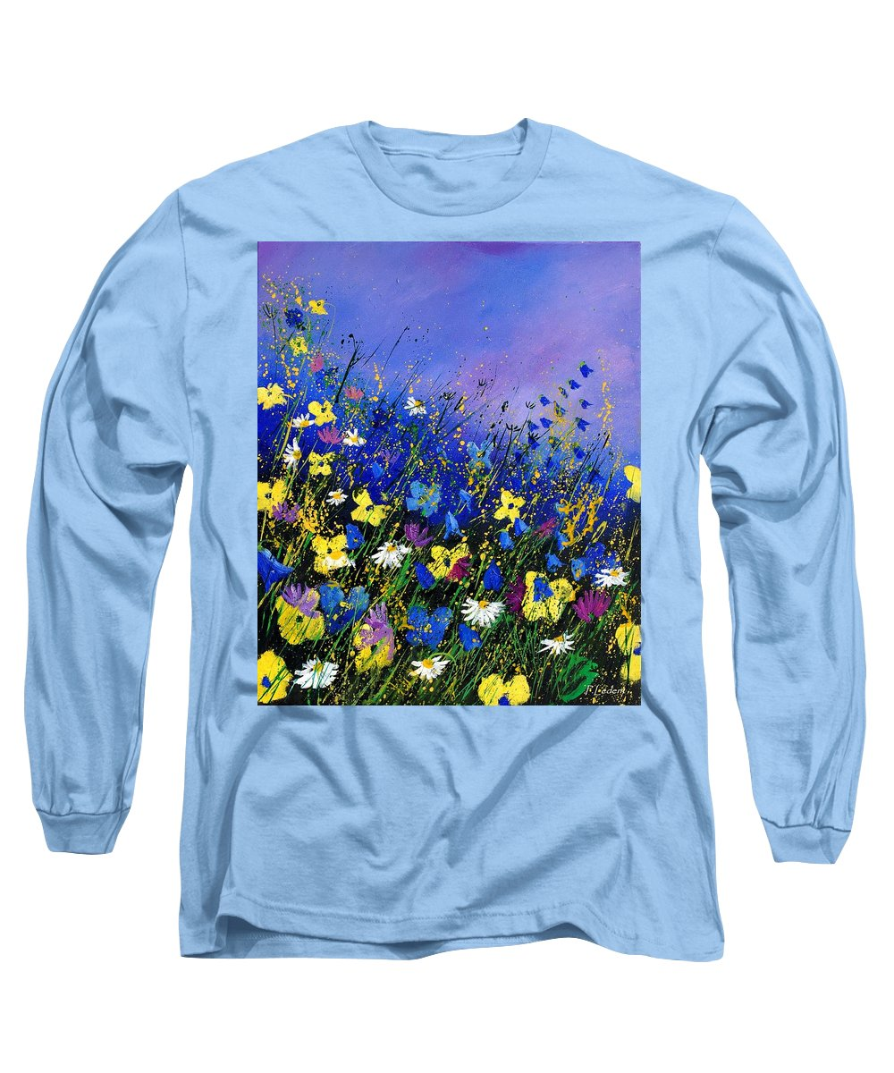 Flowers Long Sleeve T-Shirt featuring the painting Wild Flowers 560908 by Pol Ledent