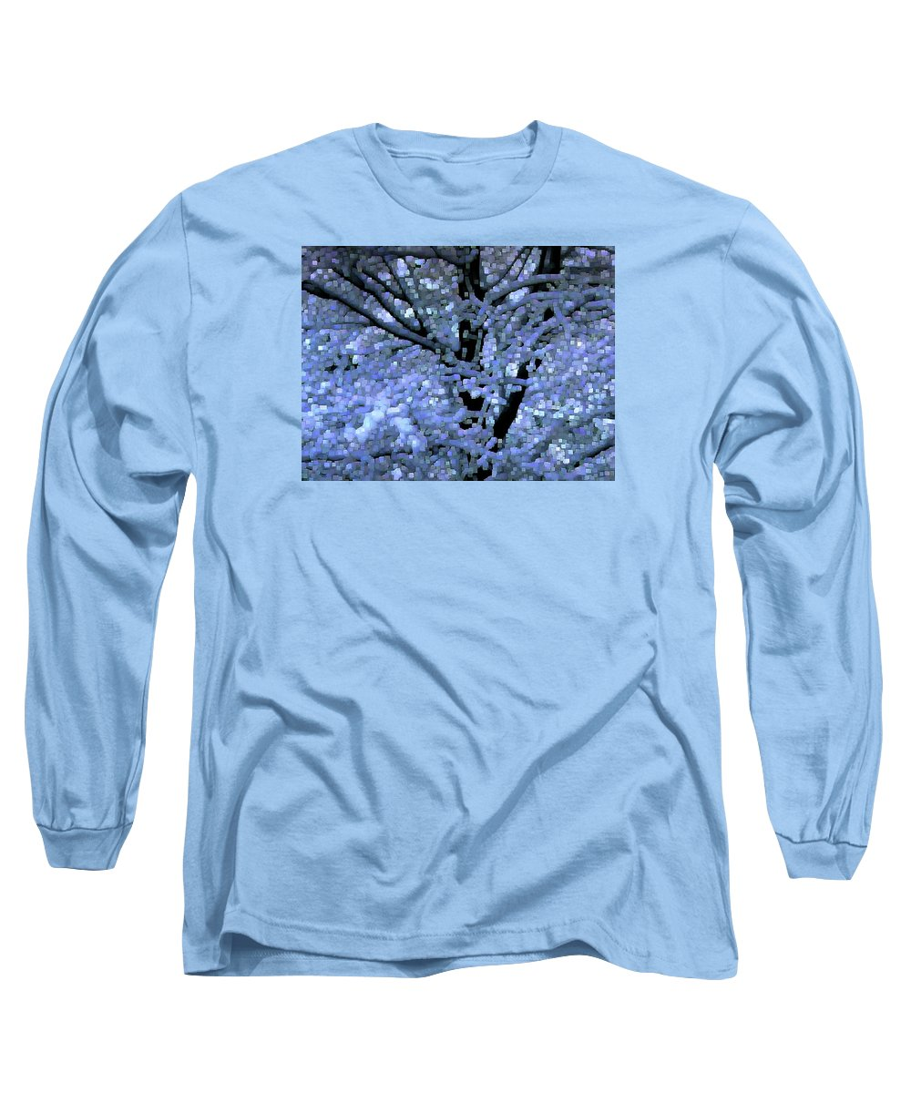 Abstract Long Sleeve T-Shirt featuring the digital art Winter Light by Dave Martsolf
