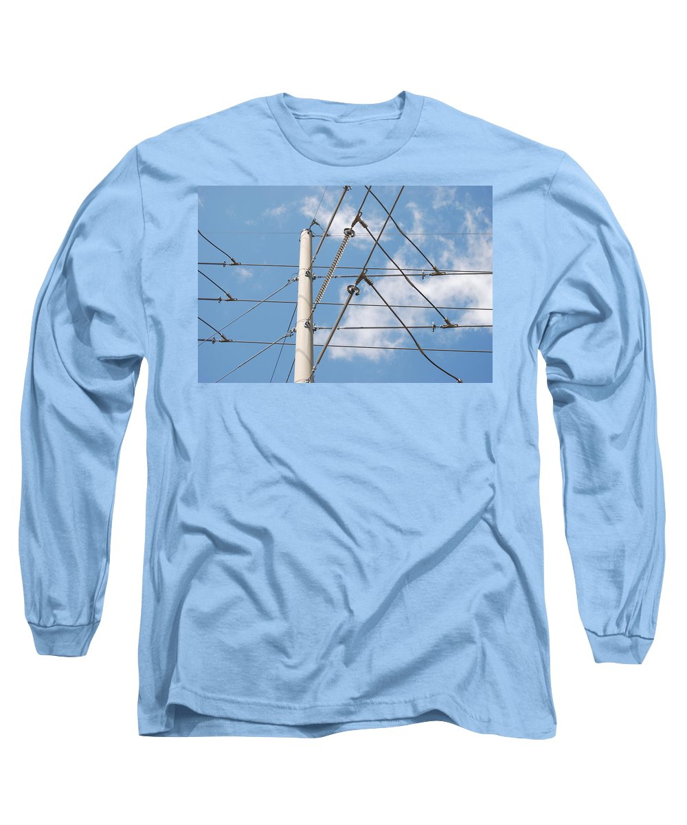 Sky Long Sleeve T-Shirt featuring the photograph Wired Sky by Rob Hans
