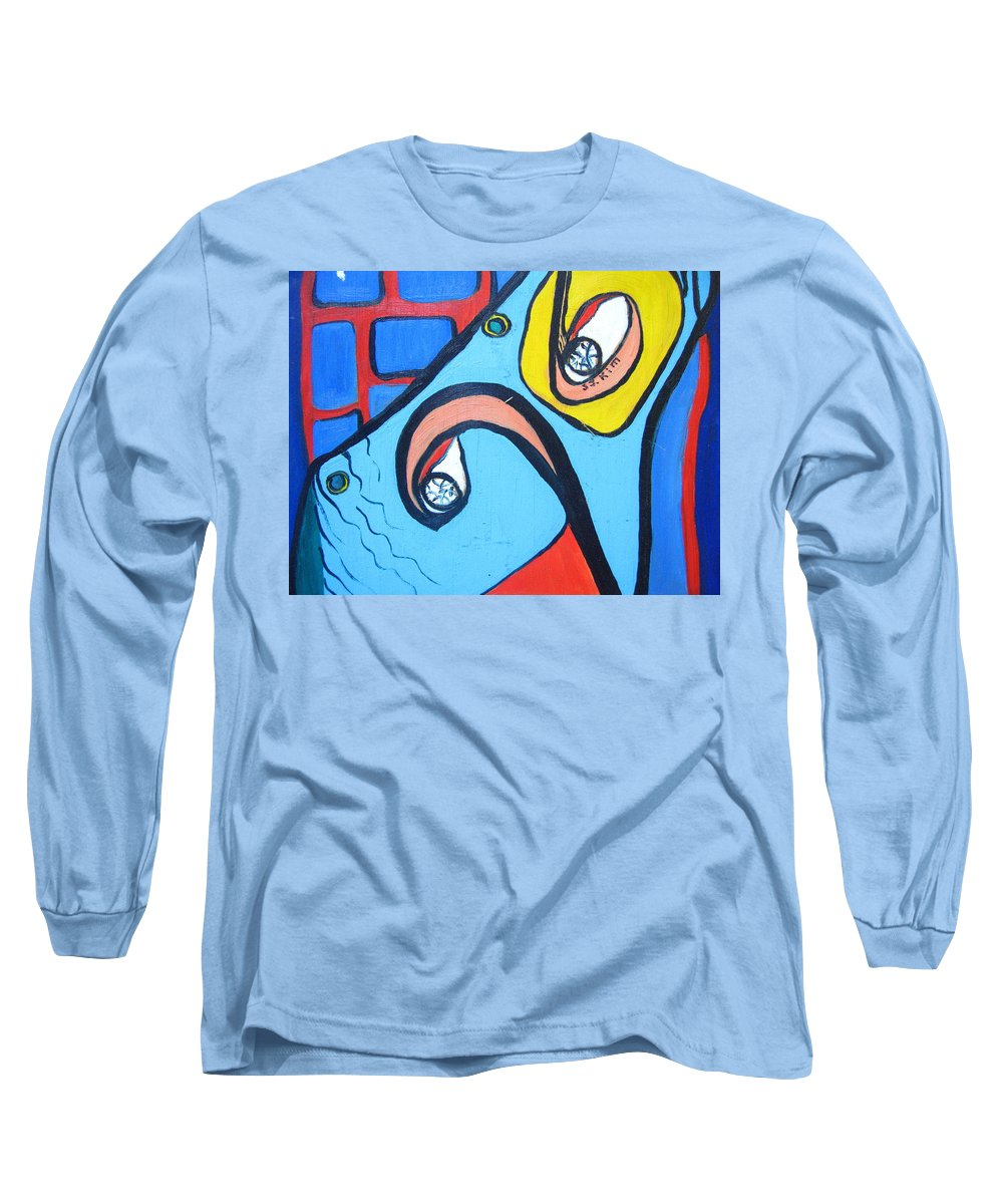 Woman Paintings Long Sleeve T-Shirt featuring the painting Woman13 by Seon-Jeong Kim