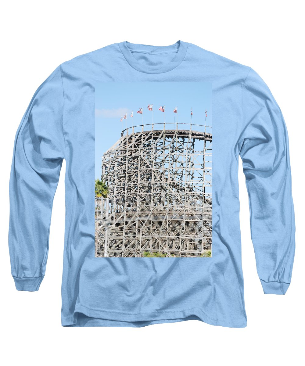 Pop Art Long Sleeve T-Shirt featuring the photograph Wooden Coaster by Rob Hans