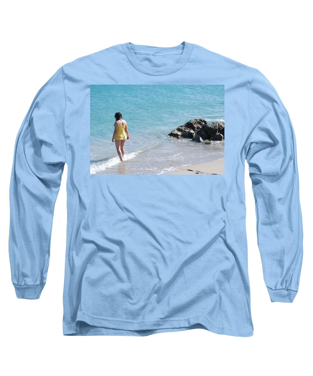Sea Scape Long Sleeve T-Shirt featuring the photograph Yellow And Blue by Rob Hans