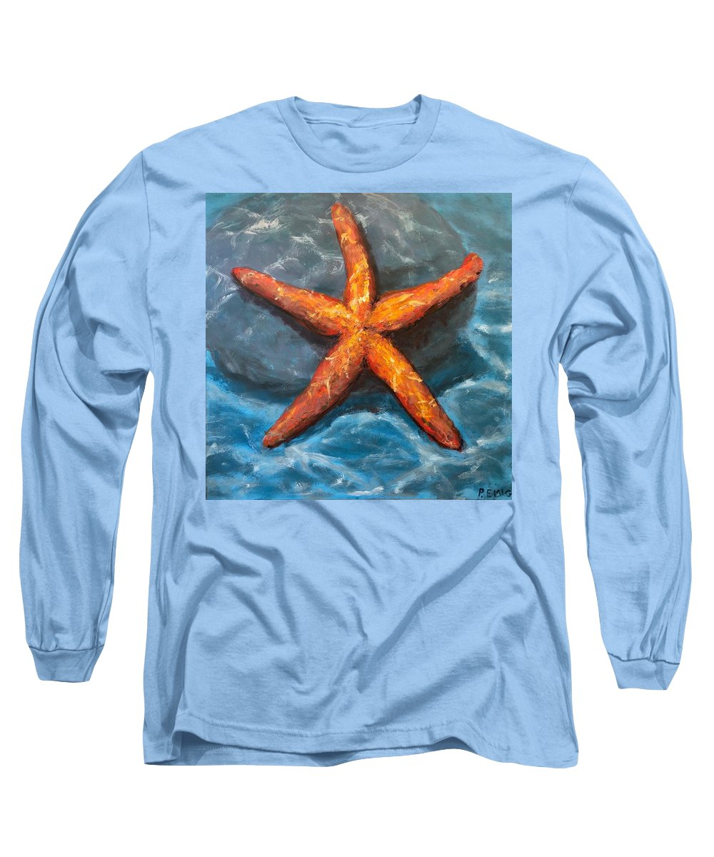 Starfish Long Sleeve T-Shirt featuring the painting Starfish by Paul Emig