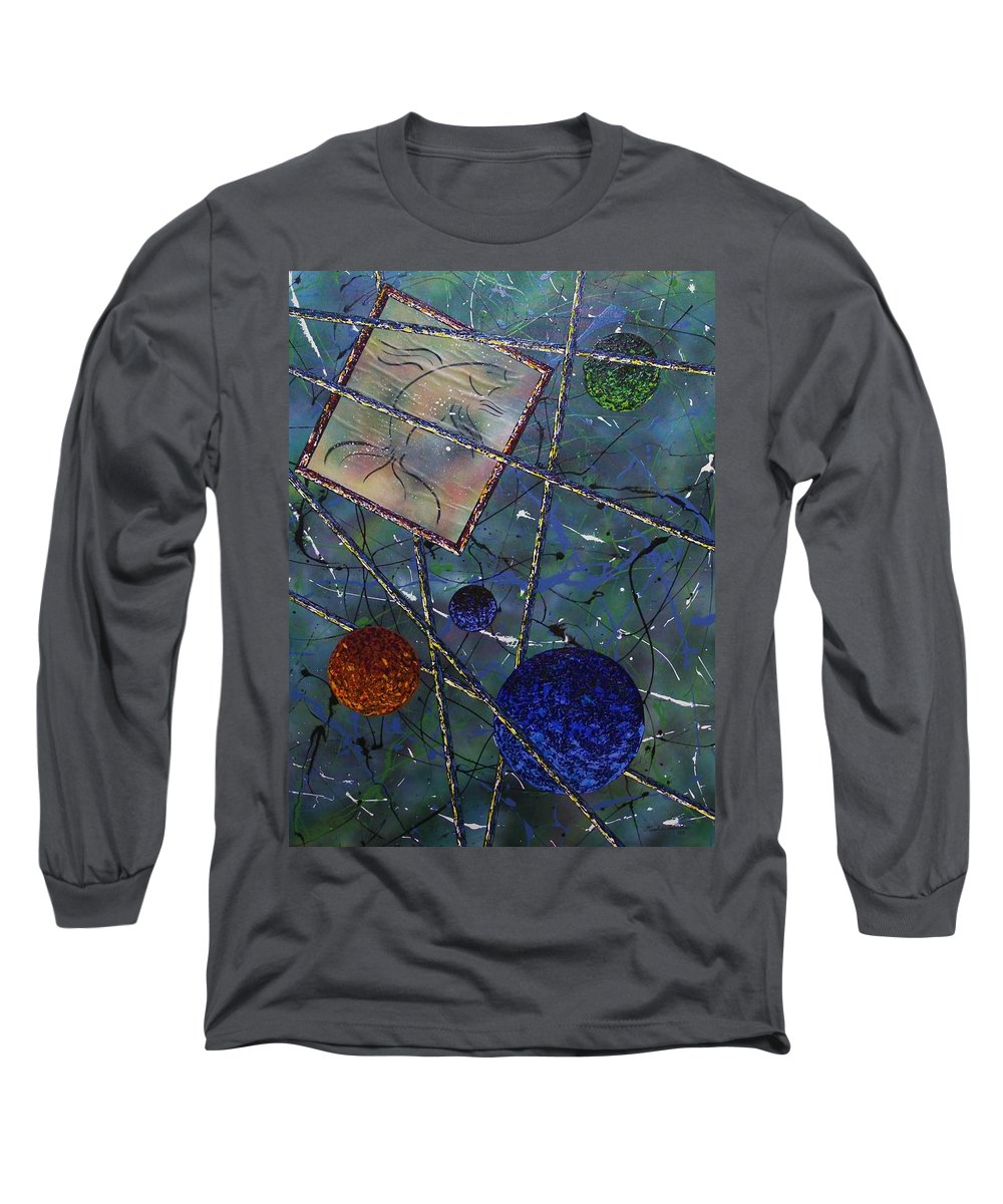Fish Long Sleeve T-Shirt featuring the painting Pisces by Micah Guenther