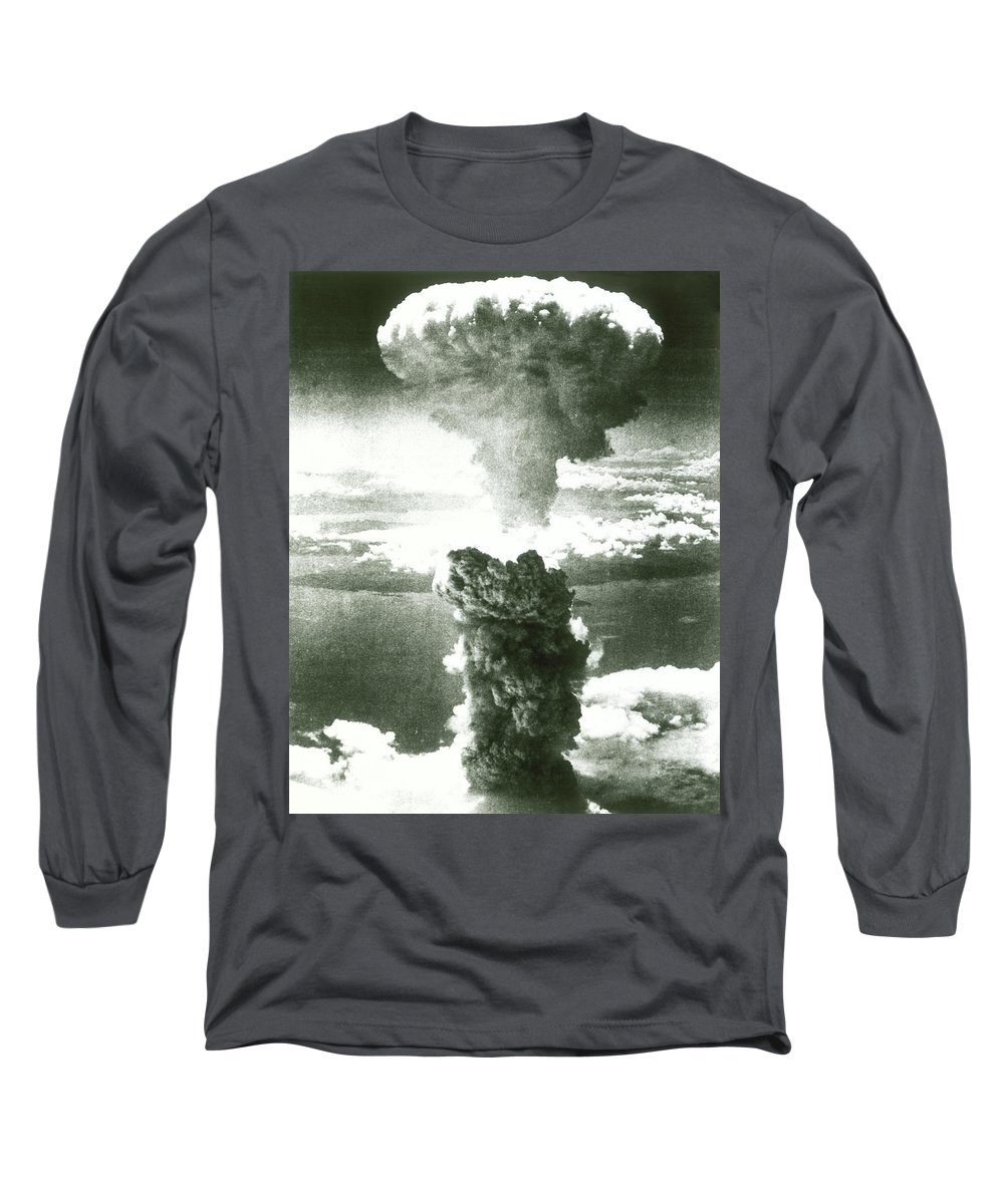 Photography Long Sleeve T-Shirt featuring the photograph 1950s Atomic Bomb Explosion Mushroom by Vintage Images