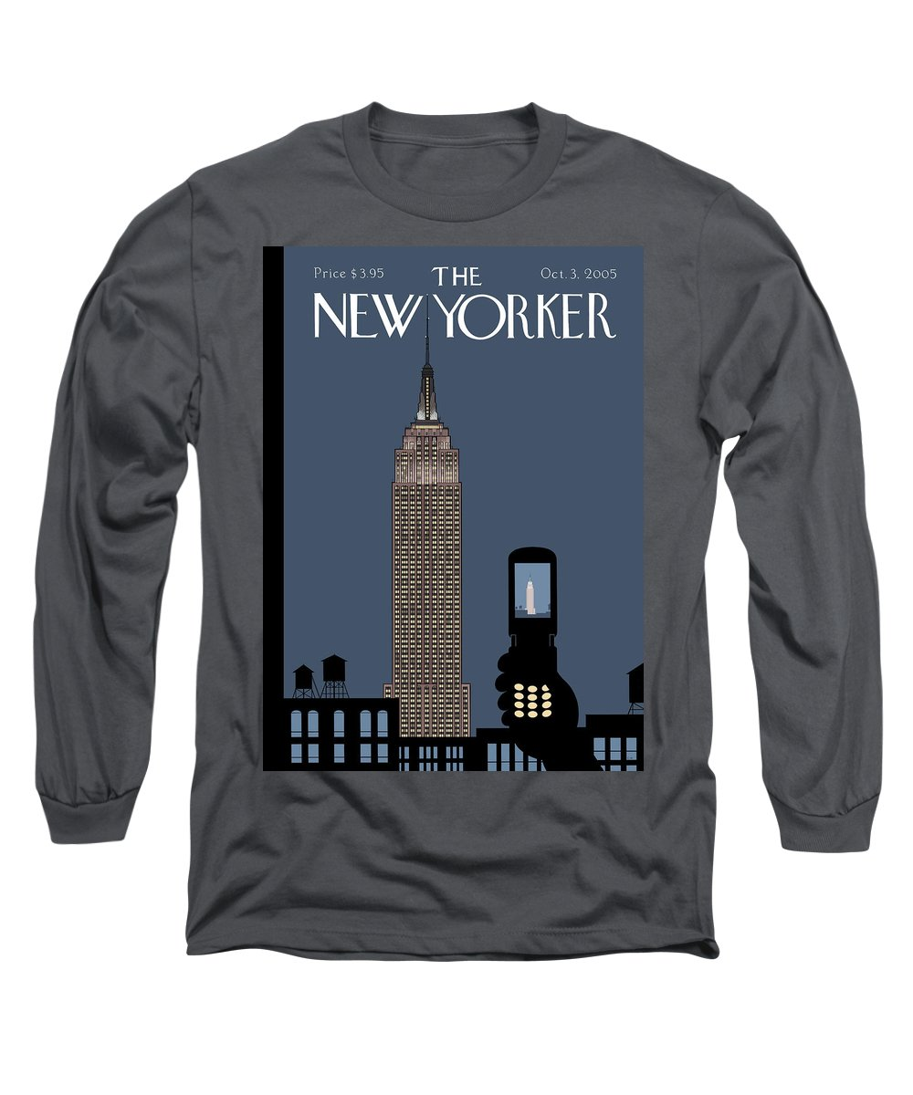 Hold Still Long Sleeve T-Shirt featuring the painting Hold Still by Chris Ware