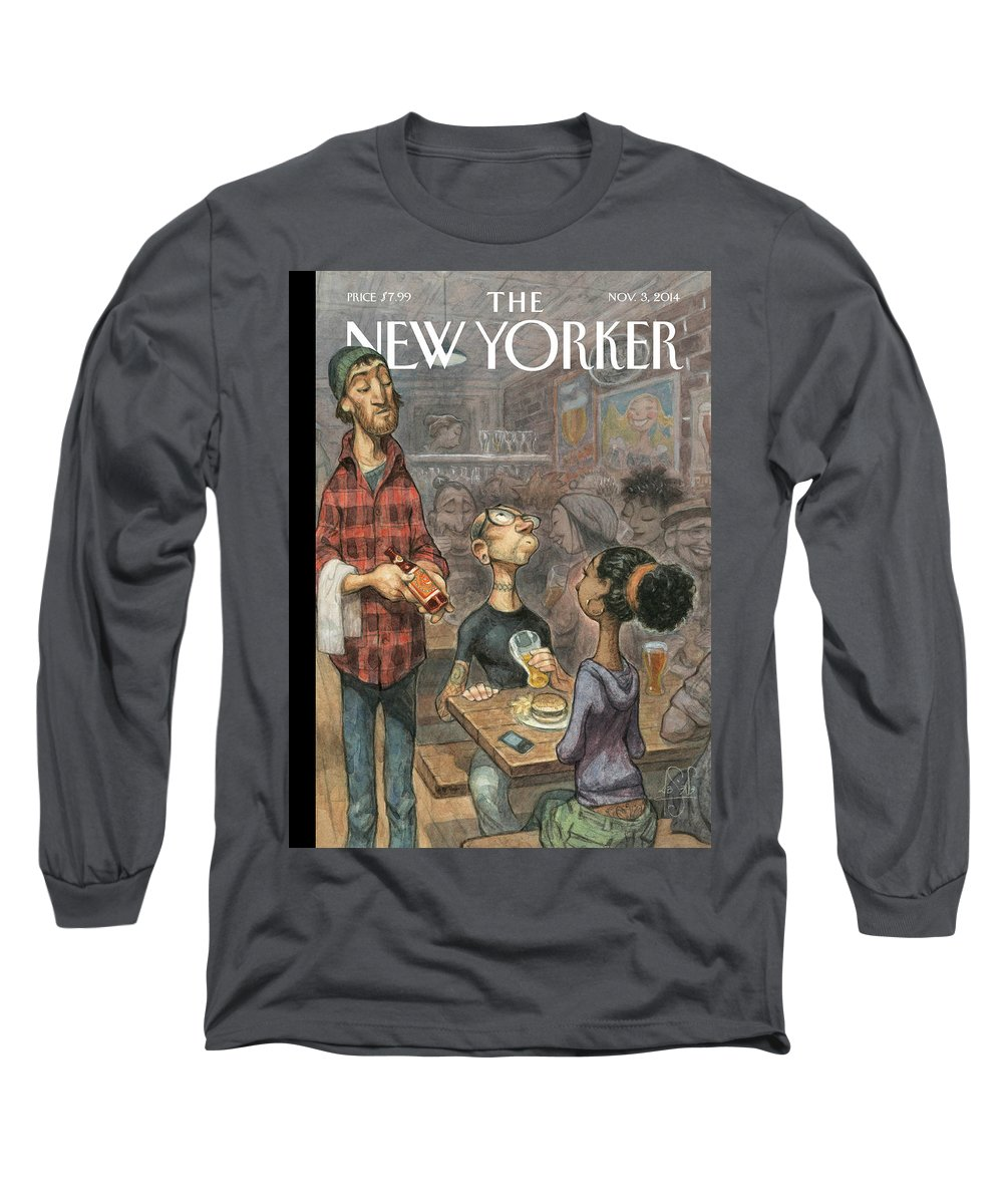 Elite Long Sleeve T-Shirt featuring the painting Hip Hops by Peter de Seve