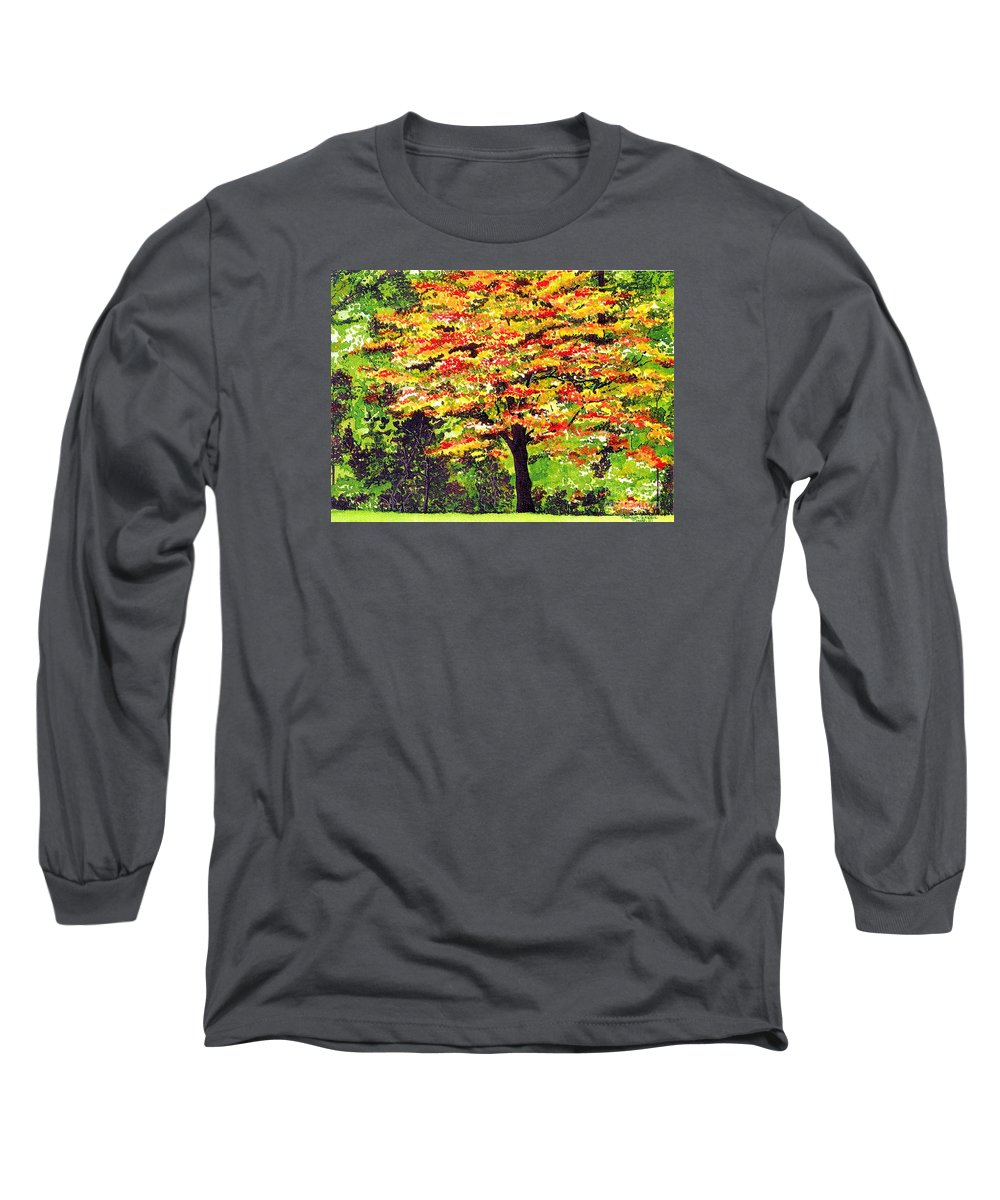Fine Art Long Sleeve T-Shirt featuring the painting Autumn Splendor by Patricia Griffin Brett
