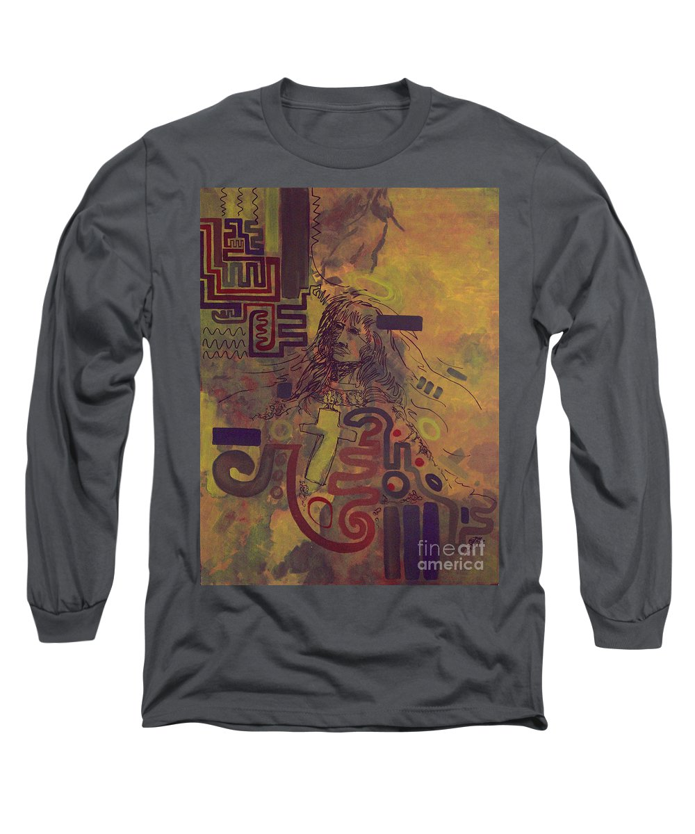 Abstract Long Sleeve T-Shirt featuring the painting Before And After by Tonya Henderson