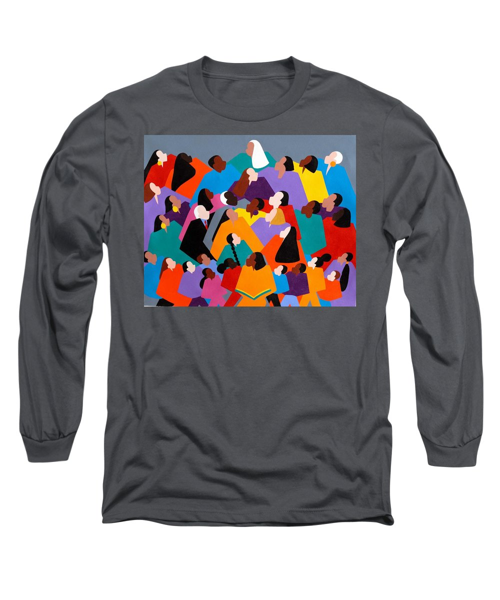 Figurative Long Sleeve T-Shirt featuring the painting Brilliance by Synthia SAINT JAMES