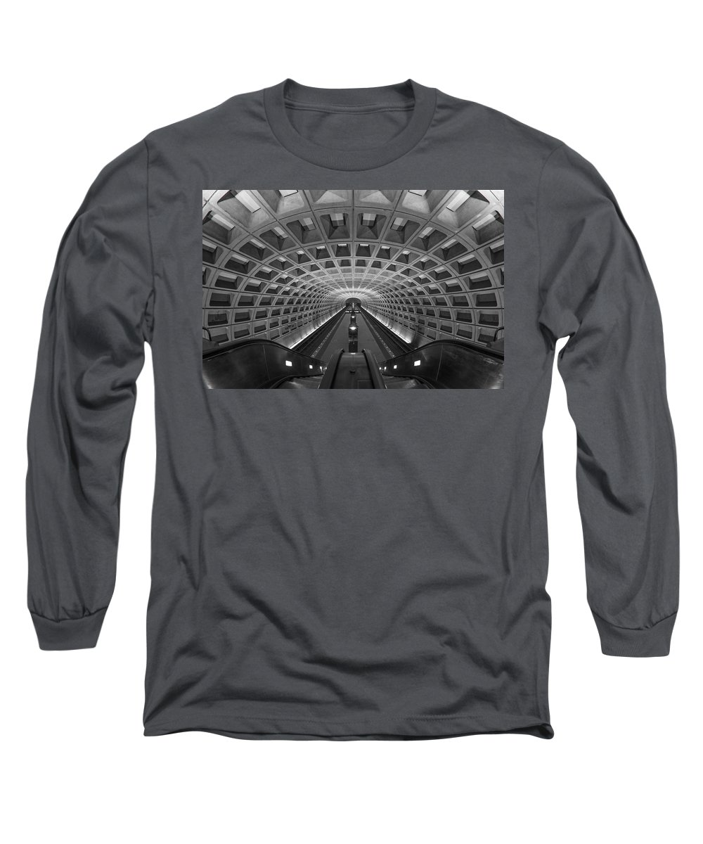 Washington Dc Long Sleeve T-Shirt featuring the photograph D.c. Subway by Dustin LeFevre