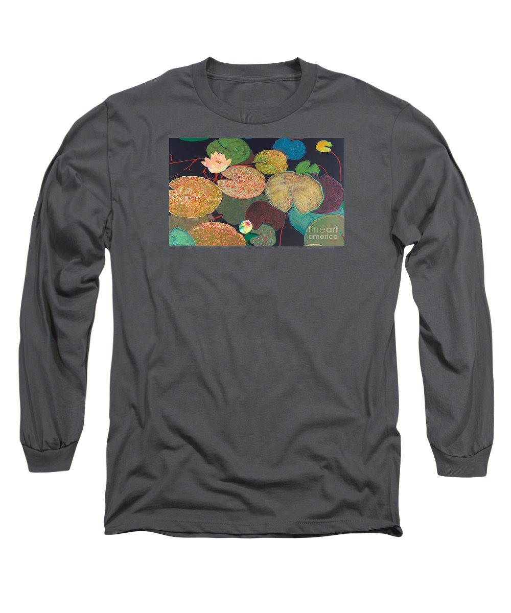 Landscape Long Sleeve T-Shirt featuring the painting Early Mist by Allan P Friedlander