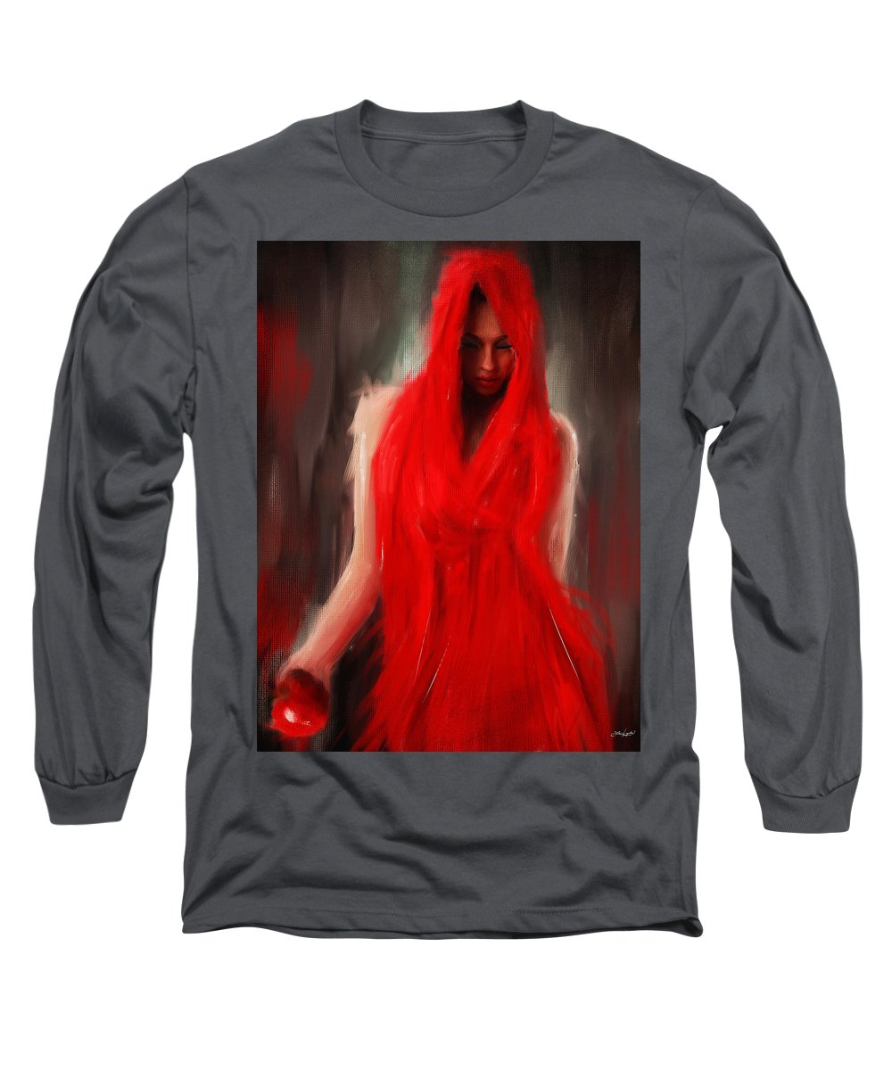 Eve Long Sleeve T-Shirt featuring the painting Eve Within by Lourry Legarde