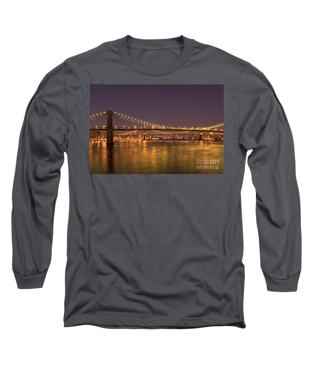 New York City Long Sleeve T-Shirt featuring the photograph Evening II New York City Usa by Sabine Jacobs