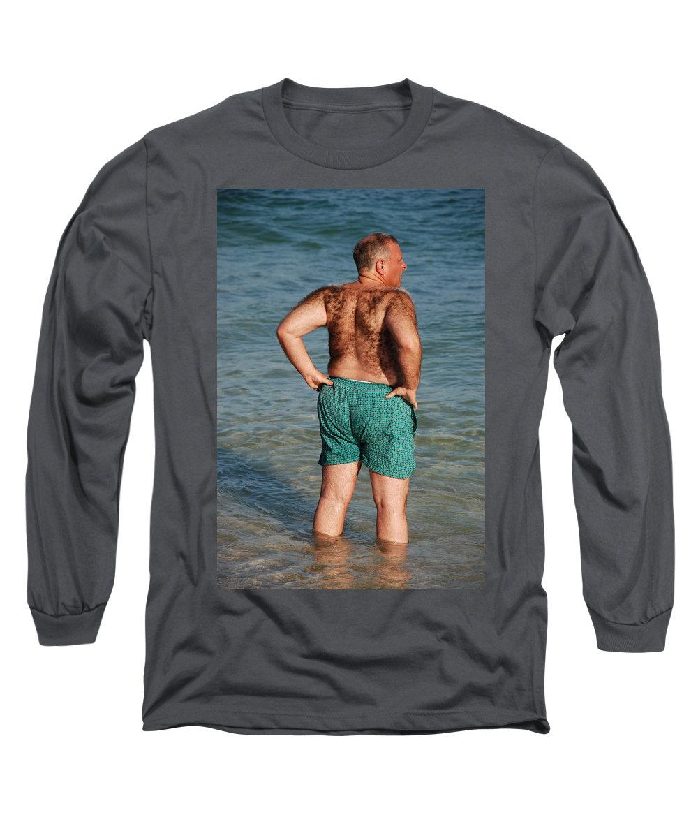 Man Long Sleeve T-Shirt featuring the photograph Hairy Ocean by Rob Hans