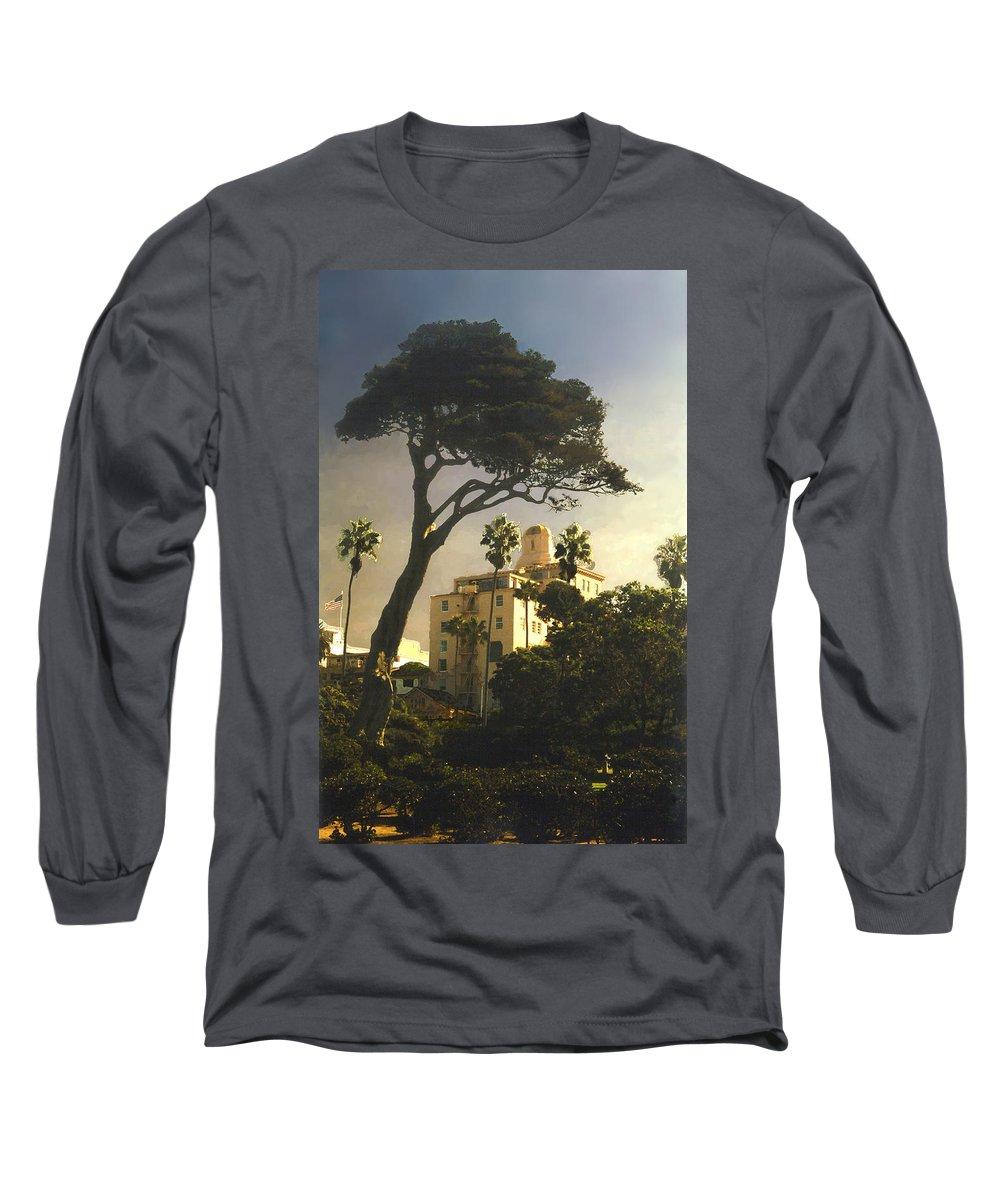 Landscape Long Sleeve T-Shirt featuring the photograph Hotel California- La Jolla by Steve Karol
