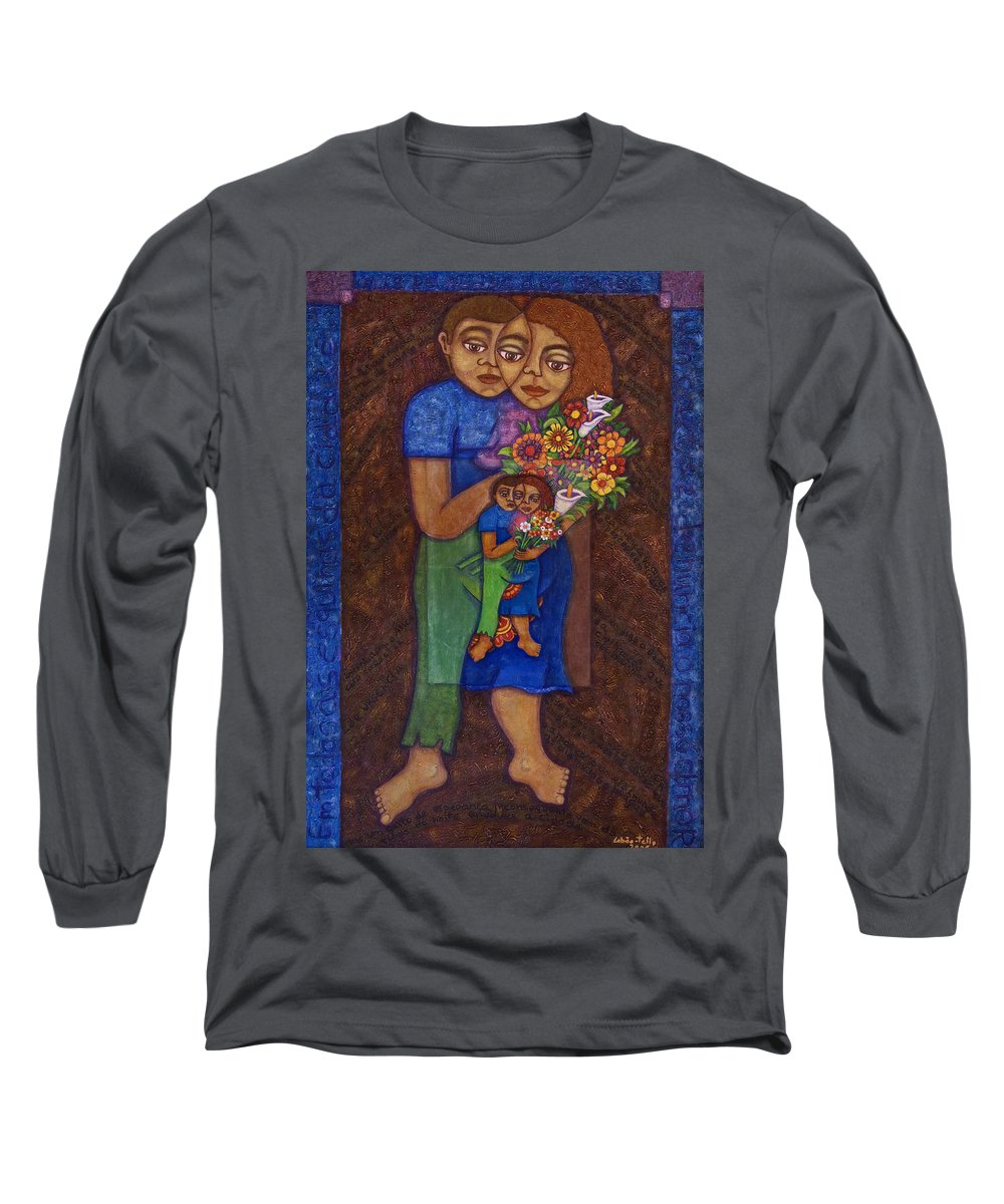 Invention Of Love Long Sleeve T-Shirt featuring the painting Invention Of Love by Madalena Lobao-Tello
