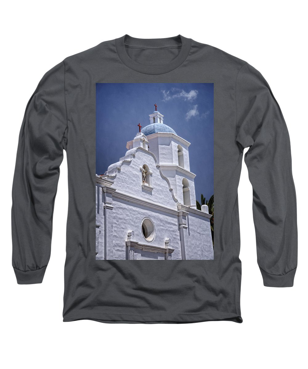 California Missions Long Sleeve T-Shirt featuring the photograph King Of The Missions by Joan Carroll