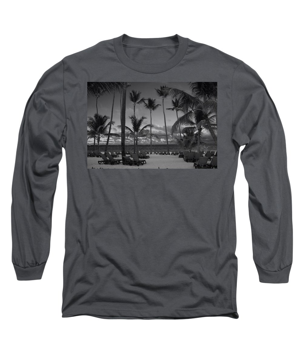 Punta Cana Long Sleeve T-Shirt featuring the photograph Lay Back And Relax by Laurie Search