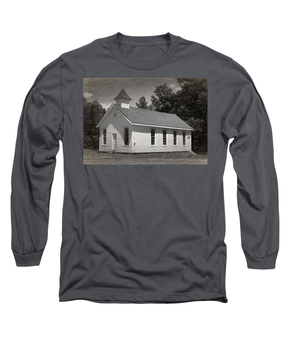 Abandoned Long Sleeve T-Shirt featuring the photograph Meeting House by Richard Rizzo