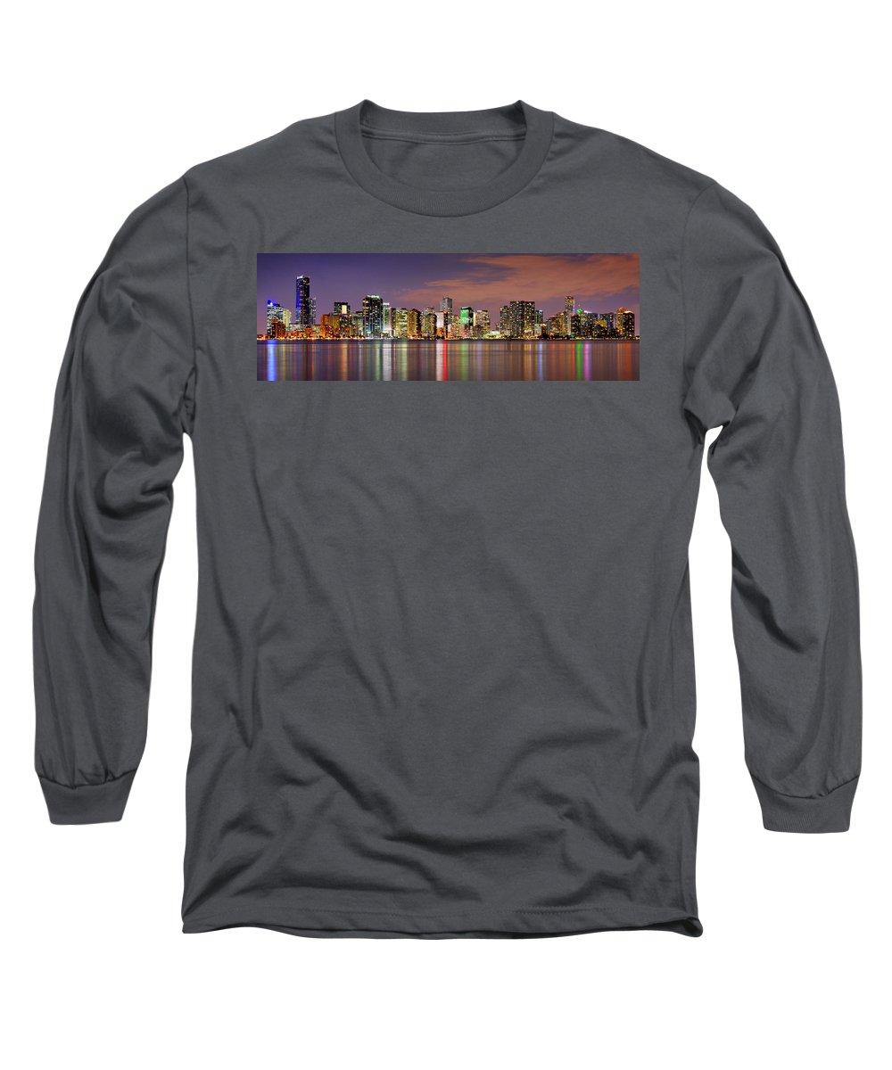 Miami Skyline Long Sleeve T-Shirts