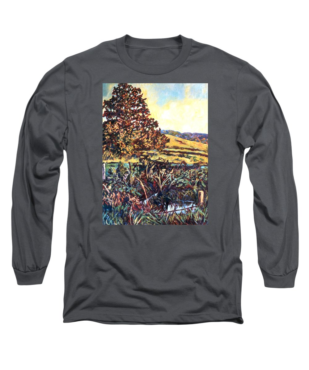 Landscape Long Sleeve T-Shirt featuring the painting Near Childress by Kendall Kessler