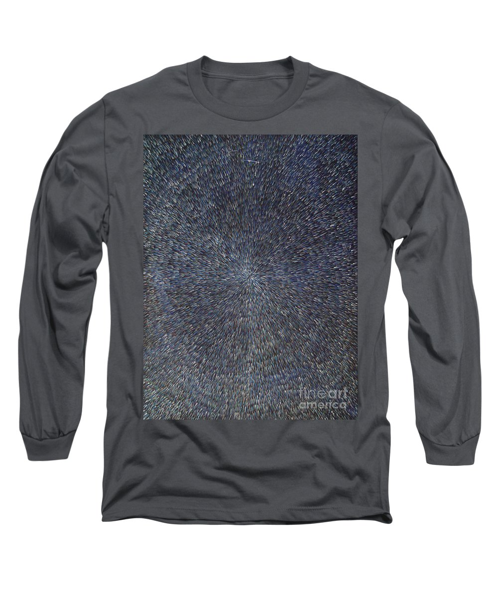 Abstract Long Sleeve T-Shirt featuring the painting Night Radiation by Dean Triolo